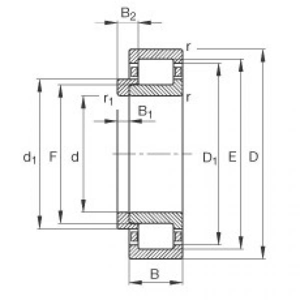 Подшипник NJ228-E-M1 + HJ228-E FAG #1 image
