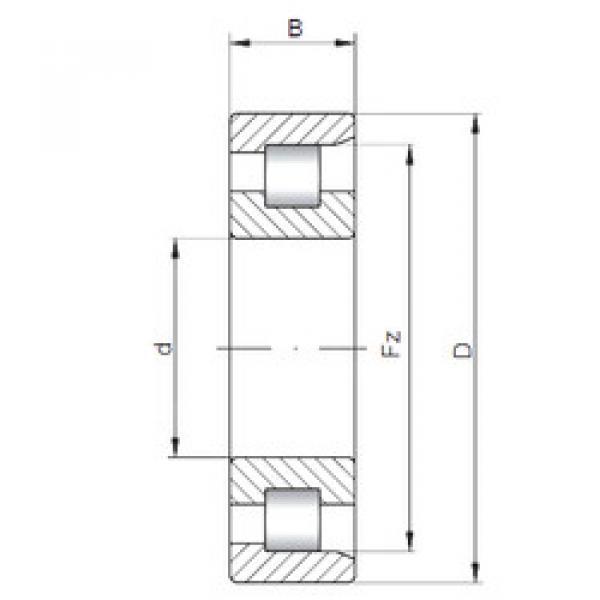 Подшипник NF2320 E CX #1 image